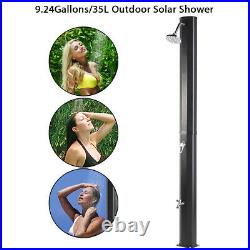 Outdoor Solar Heated Shower withShower 9.2 Gallon Dual-Purpose Poolside Beach Pool