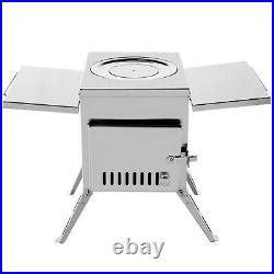 Outdoor Wood Stove SS304 Portable Camping with Pipe For Vented Tent Cooking