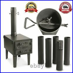 Outdoor Woodstove Wood Burning Stove Fireplace Fire Small Pipe Burner Camp Heat