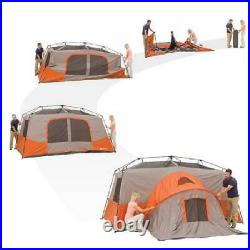 Ozark Trail 11 Person 3 Room Instant Cabin Tent Outdoor Camping & Private Room