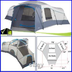 Ozark Trail 16 Person Large Family Tent 3 Cabin Room Base