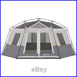 Ozark Trail 8-Person Instant Hexagon Cabin Tent Camping Rainfly Hiking Outdoor