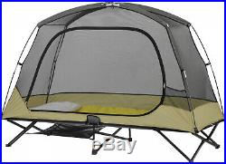 Ozark Trail One-Person Padded Cot Tent Outdoor Camping Gear Loft Bug Protection