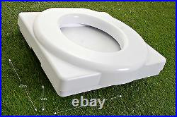 Popaloo Compact water and chemical free camping toilet. Made in England