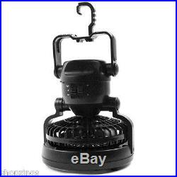 Portable Camping LED Lantern & Fan. Hiking Tent Flash Light Battery Outdoor Lamp