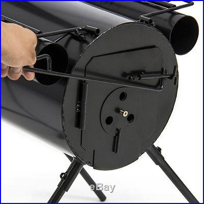Portable Military Steel Camping Wood Stove for Camp Cooking or as Tent Heater