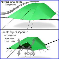 Portable Triangle Hammock Tent Ultralight Hanging-off Ground Tree Tent Green