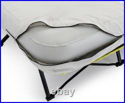 Queen Size Airbed Cot Steel Frame Camping Mattress Folding Outdoor Portable Pump
