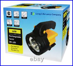 Rechargeable LED Work Light Torch 1 Million Candle Power Spotlight Hand Lamp