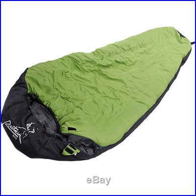 Routman Sleeping Bag 0-10Degree Green Camping Outdoor 240T Pongee Ripstop Travel
