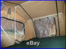 Sand Yellow Expedition Fold Out 3 Person Roof Top Tent
