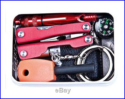 Self Help Outdoor Camping Hiking Survival Emergency Gear Equipment Tools Box Kit
