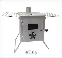 Silver Gray Outbacker'Firebox' Portable Wood Burning Tent Stove Free bag