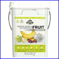 Survival Food Supply Kit Emergency Bucket 4 Gallon Fruit Rations Freeze Dried