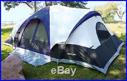 Tahoe Gear Manitoba 14-Person 20' x 17' Family Outdoor Camping Tent with Rainfly