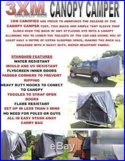 Tent To Suit Any Dual Cab Styleside Ute With A Canopy In Grey Simple Setup