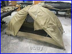 USED TAN Litefighter 1 Military Shelter Tent Camping Hiking Survival