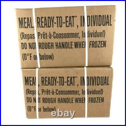 USGI Military MRE Meals Ready To Eat 24 Meals Case A & B Inspection 2022