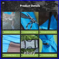 US 8-10 Person Super Big Camping Tent Waterproof Outdoor Hiking Family