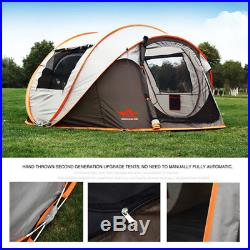 Ultralight Large Automatic Tent Windproof Waterproof Pop up Camping 5-8 Person
