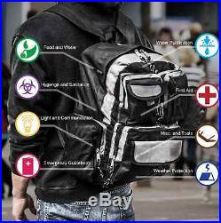 Urban Survival Kit 4 Person Bug Out Backpack Go Bag Emergency Gear For 3 Days