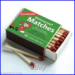 WATERPROOF MATCHES-20 BOXES OF 40+ OVER 800 MATCHES-CANNOT LIGHT ACCIDENTALLY