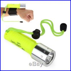 Waterproof Underwater CREE XM-L 1600Lm 18650 LED Diving Flashlight Torch Lamp US
