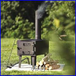 Wood Burning Stove Fireplace Fire Small Pipe Burner Outdoor Heater Camping Gear